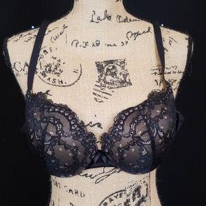 Maidenform black tan lace push up bra DM9900 C3